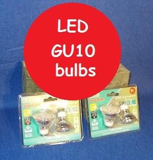4W GU10 bulbs